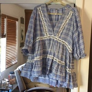 Free People high-low blouse.  Size:XS